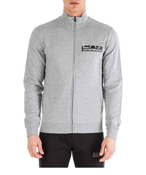 Sweatshirt mit Zip Emporio Armani EA7 6GPM61PJ05Z3905 medium grey melange