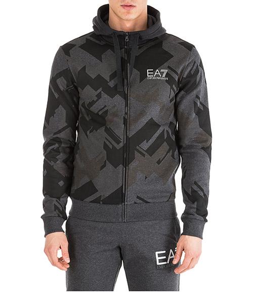 Sudadera con capucha Emporio Armani EA7 6GPM66PJ07Z2216 black camouflage