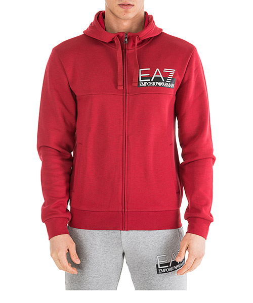 Kapuzensweatshirt Emporio Armani EA7 6GPM80PJF3Z3400 red melange