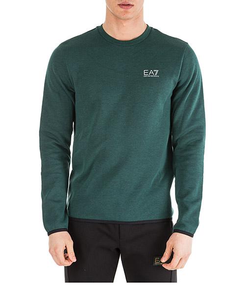 Sweatshirt Emporio Armani EA7 6GPM93PJF3Z3801 dark green melange