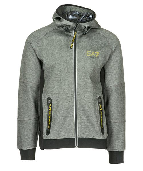 Sweatshirt mit Zip Emporio Armani EA7 6ZPM65PJQ7Z3912 grey melange