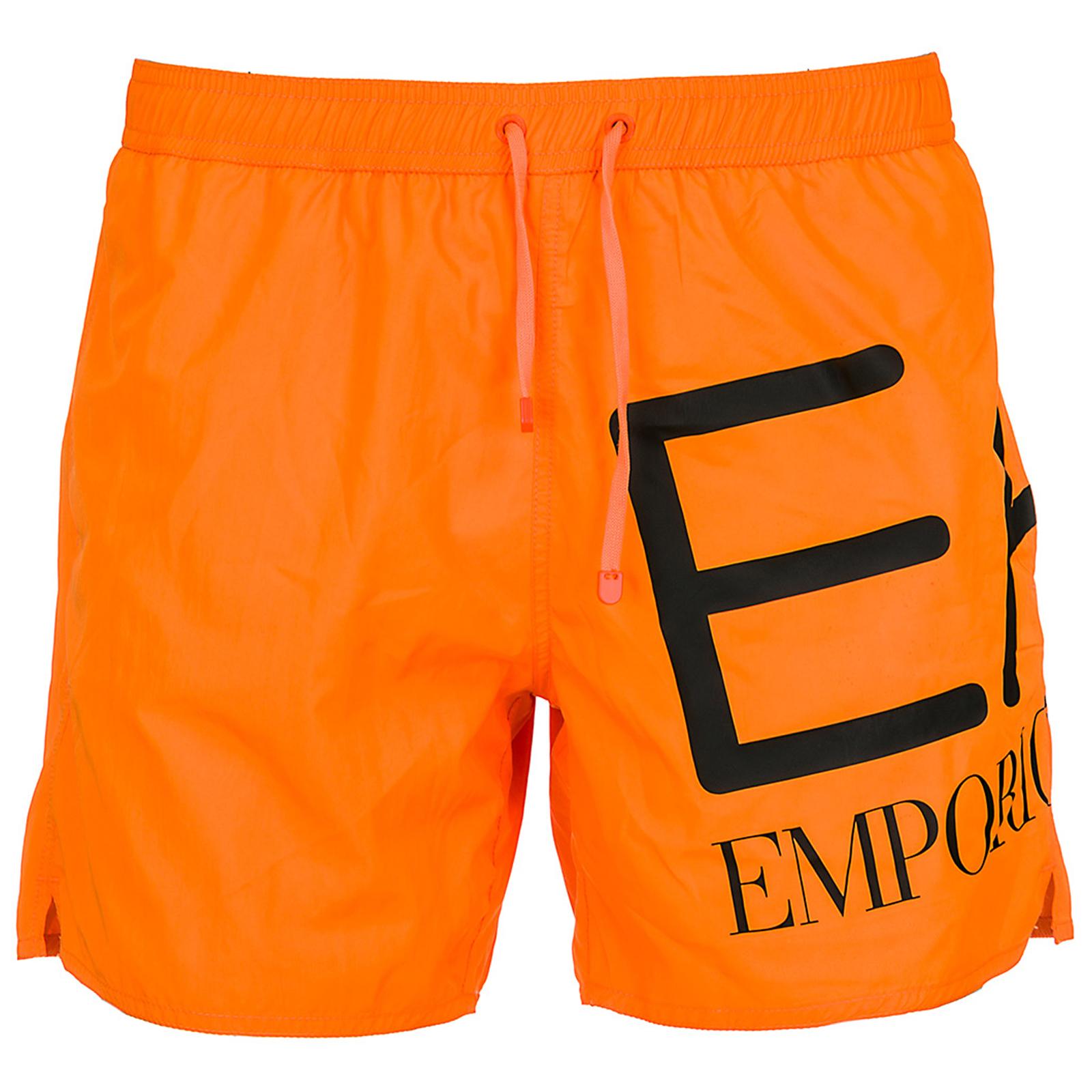 Boxer mare emporio armani ea7 9020008p73900662 orange fluo - Costume da bagno uomo armani ...
