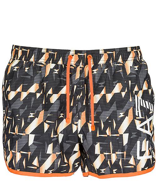 Boxer mare Emporio Armani EA7 9020078P74227520 black / orange fluo