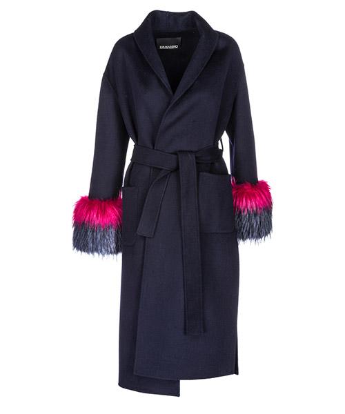 Пальто Ermanno di Ermanno Scervino CP4300762 blu