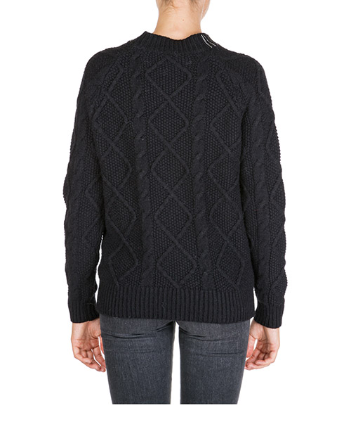 Women's jumper sweater crew neck round secondary image