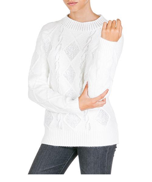 Maglione Ermanno di Ermanno Scervino mg09ly100249 bianco