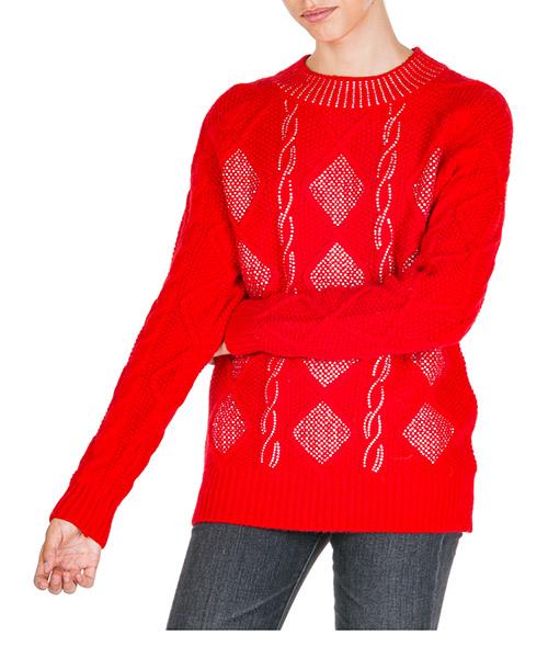 Maglione Ermanno di Ermanno Scervino mg09ly100410 rosso