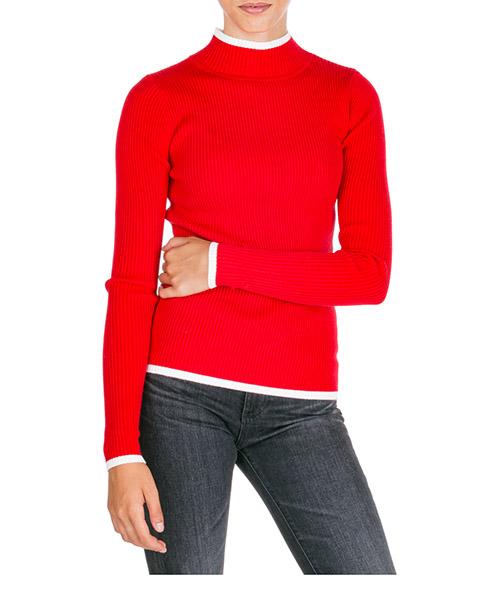 Maglione collo alto Ermanno di Ermanno Scervino mg19ly275149 rosso