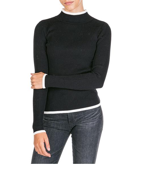 Maglione collo alto Ermanno di Ermanno Scervino mg19ly299249 nero