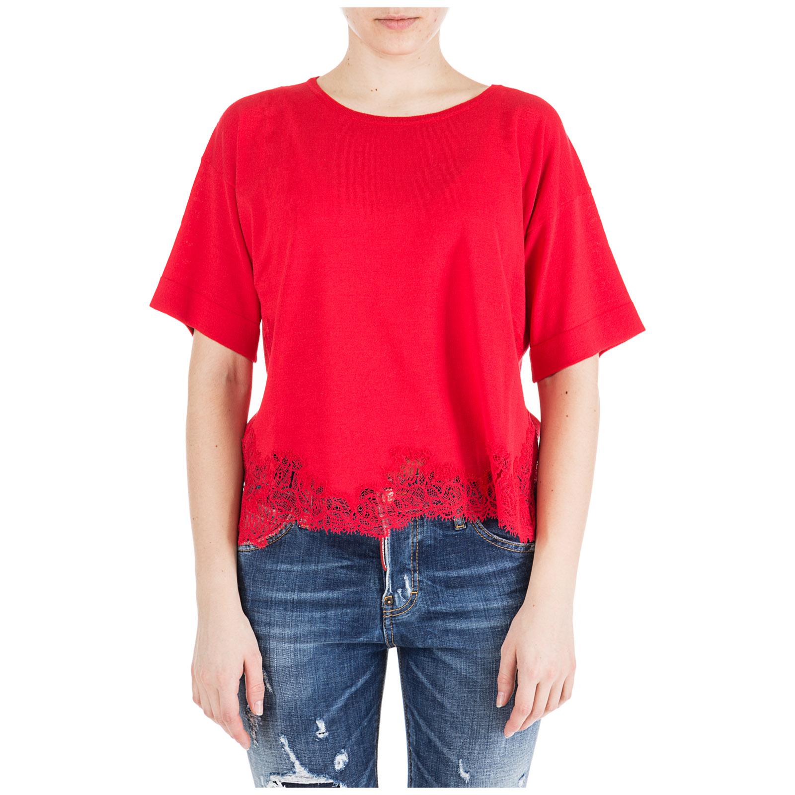 1cbb969b7f T-shirt maglia maniche corte girocollo donna