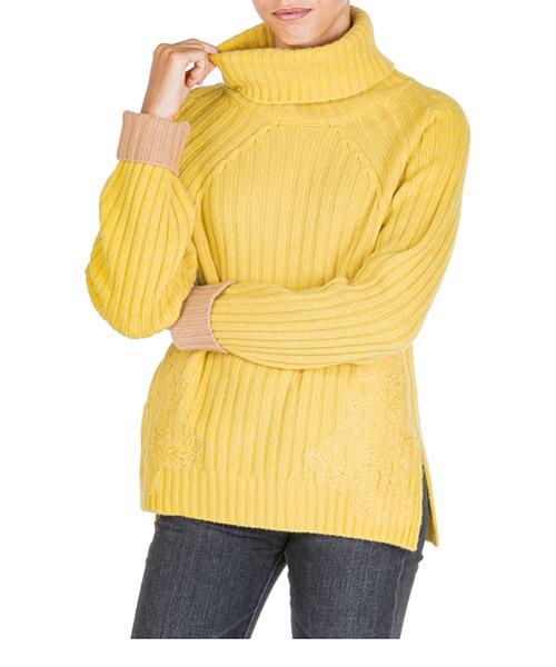 Maglione collo alto Ermanno di Ermanno Scervino mg31deg41364 giallo