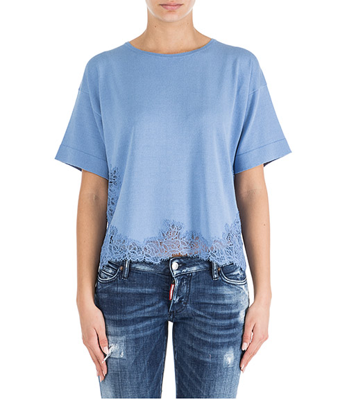 T-shirt Ermanno di Ermanno Scervino mg31gra00646 azzurro
