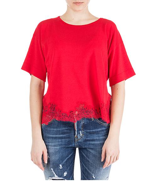 T-shirt Ermanno di Ermanno Scervino mg31gra00751 rosso