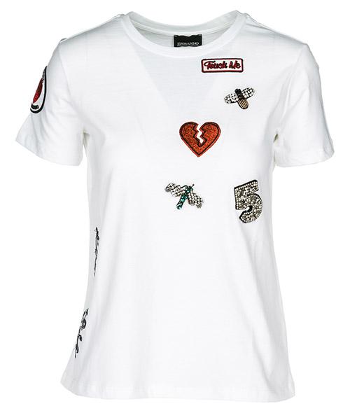 T-shirt Ermanno di Ermanno Scervino TS1400010 white
