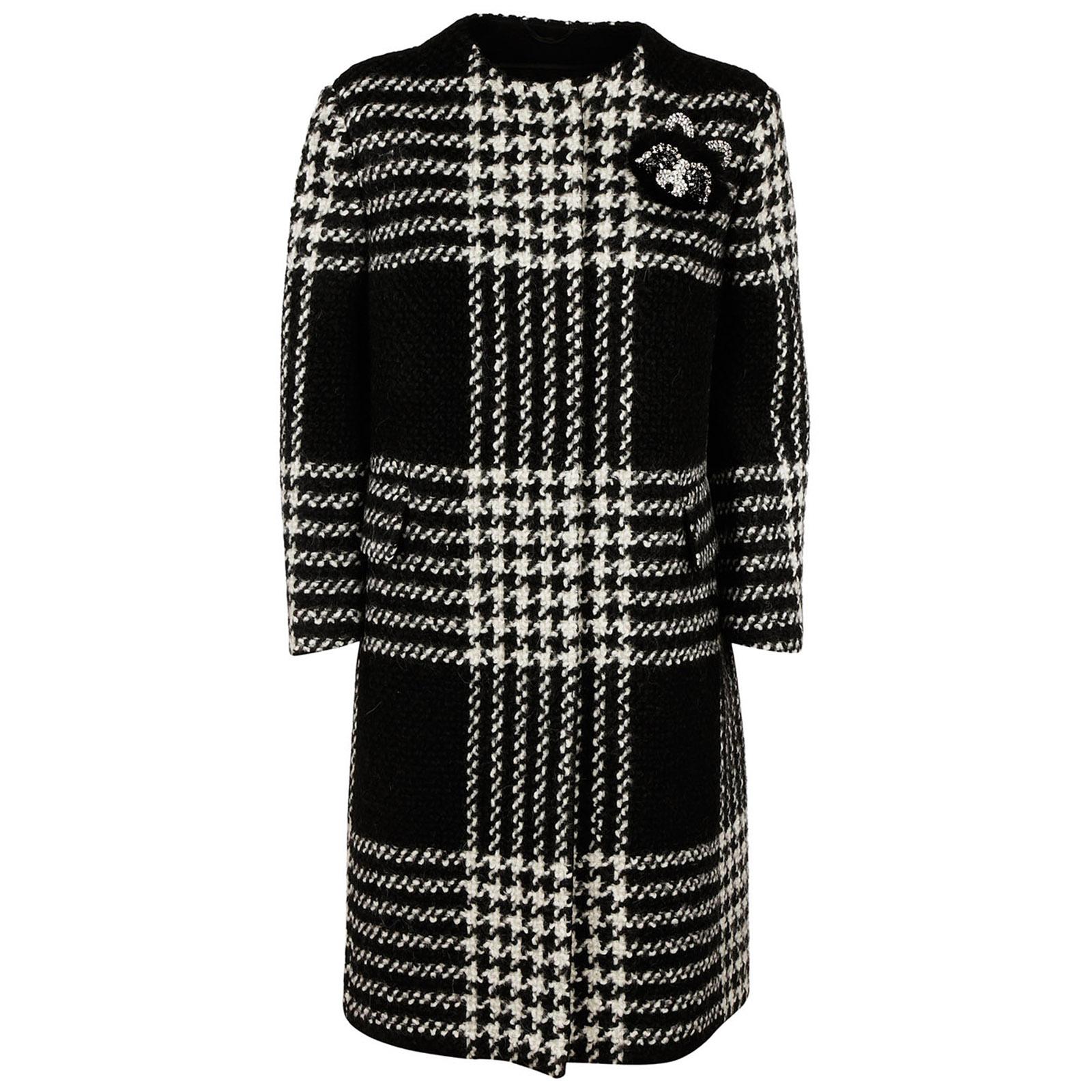 Cappotto donna in lana pied de poule