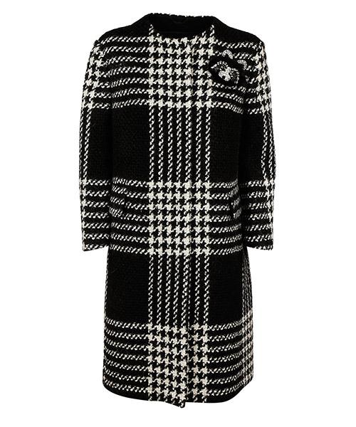 пальто шерстяное женское  pied de poule