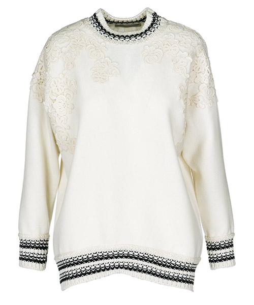 Jumper Ermanno Scervino D332L721FWX10605 white / black