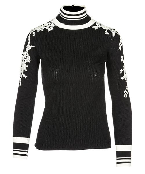 Suéter cuello alto Ermanno Scervino D335M318APAUN-B3314 nero