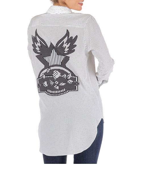 Camisa Ermanno Scervino d352k715ibzs3568 bianco