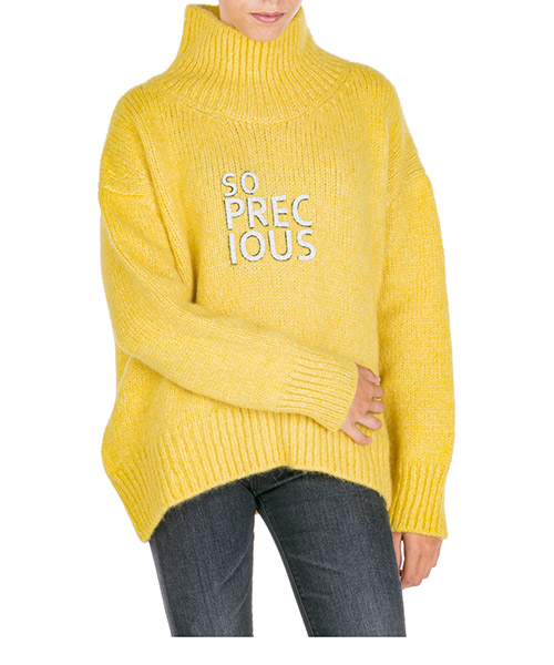Suéter cuello alto Ermanno Scervino d355m366apun30858 giallo