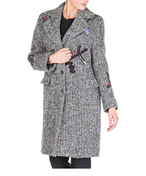 Пальто Ermanno Scervino d356d308ruvat3505 grigio