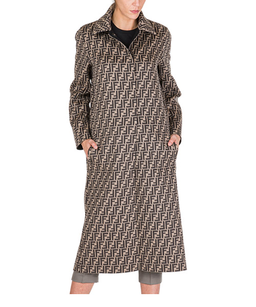 Coats Fendi ff8674a5hdf0gme marrone