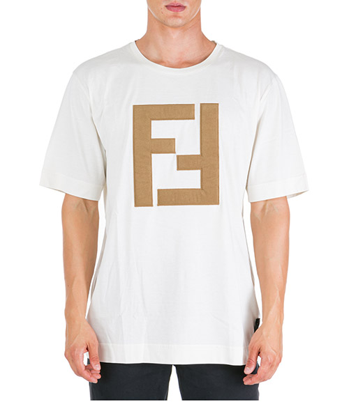 T-shirt Fendi fy0936a2bnf0qu7 ghiaccio