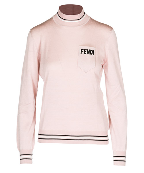 Turtle neck sweater  Fendi FZY672A3UZF12Q2 rosa