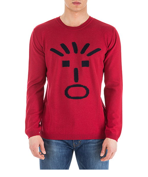 Men's crew neck neckline jumper sweater pullover animation