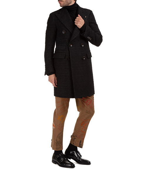 Men's double breasted coat overcoat secondary image