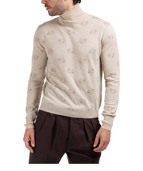 Men's polo neck turtleneck jumper sweater secondary image