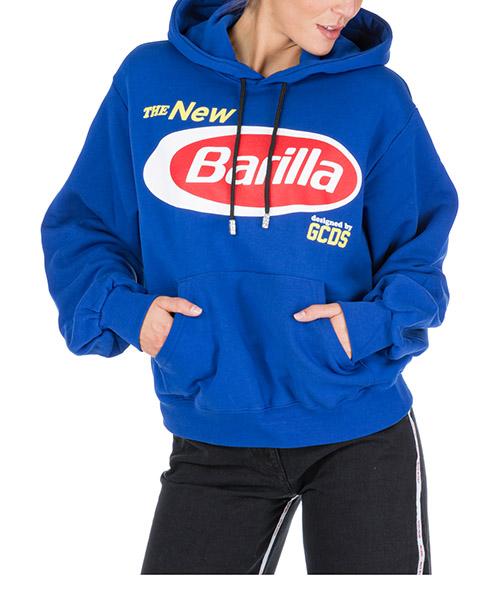 Толстовка с капюшоном GCDS barilla br20u020003-08 blu