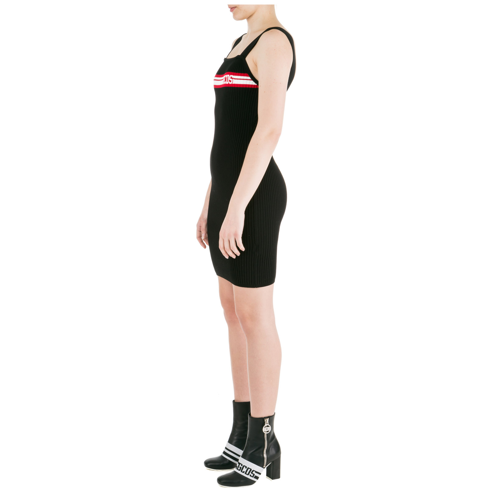 a6308da81e6d ... Vestito abito donna corto miniabito senza maniche