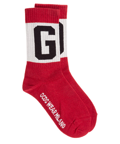 Socken GCDS logo cc94m010088-03 red