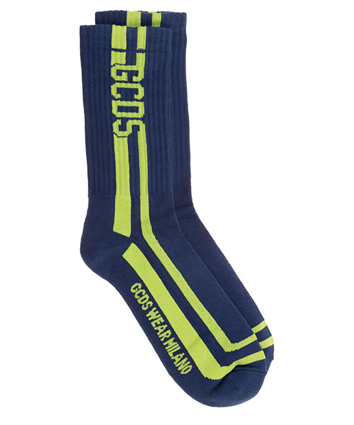 Socken GCDS logo cc94m010125.08 azzurro