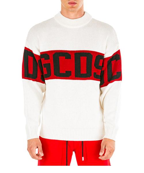 Maglione GCDS cc94m020050-01 bianco