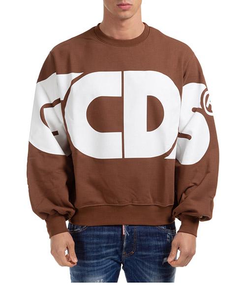 Sweatshirt GCDS macro logo cc94m021005-14 brown