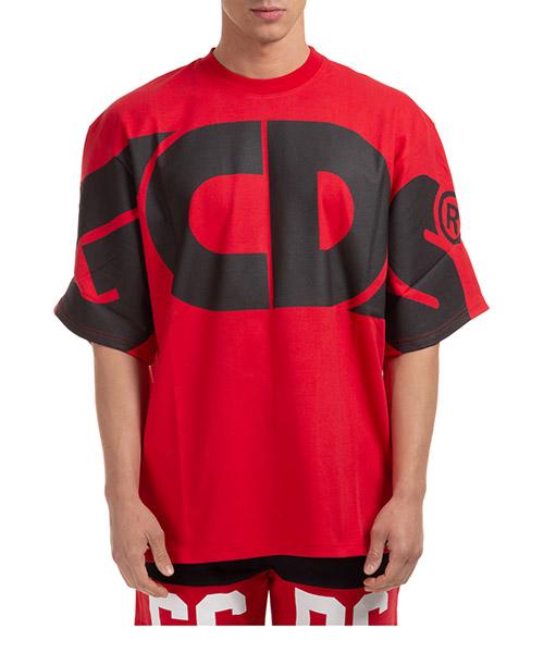 T-shirt GCDS macro logo cc94m021006-03 red