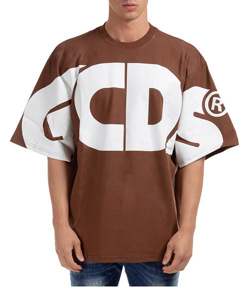 T-shirt GCDS macro logo cc94m021006-14 brown