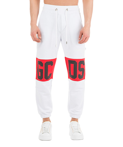 Спортивные брюки GCDS Logo CC94U030037-01 bianco
