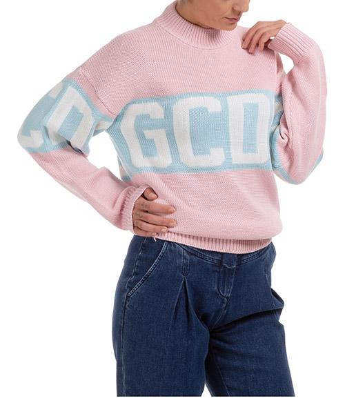 Suéter GCDS logo band CC94W021114-06 rosa
