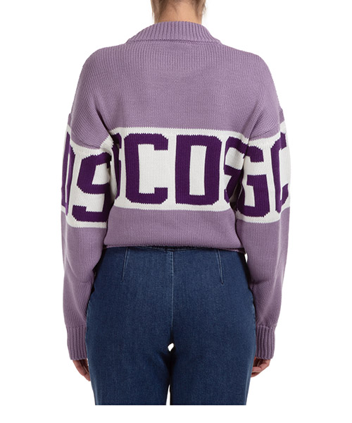 Women's jumper sweater crew neck round logo band secondary image