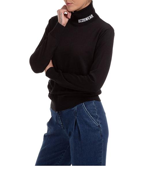 Suéter cuello alto GCDS logo CC94W021115-02 nero