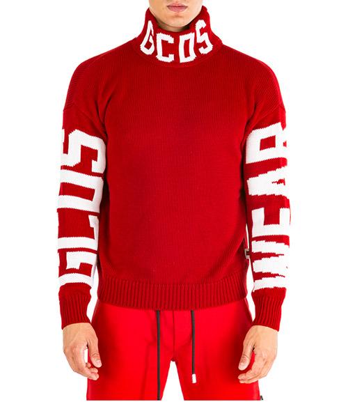 Maglione collo alto GCDS fw20m020056-03 rosso