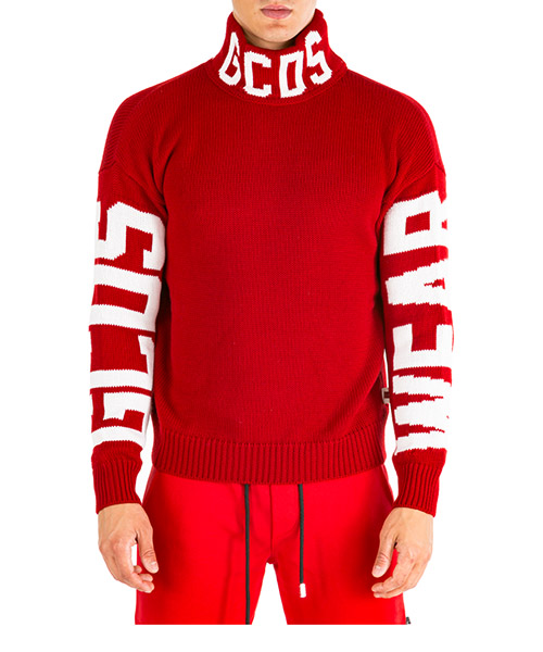 Roll neck jumper GCDS fw20m020056-03 rosso