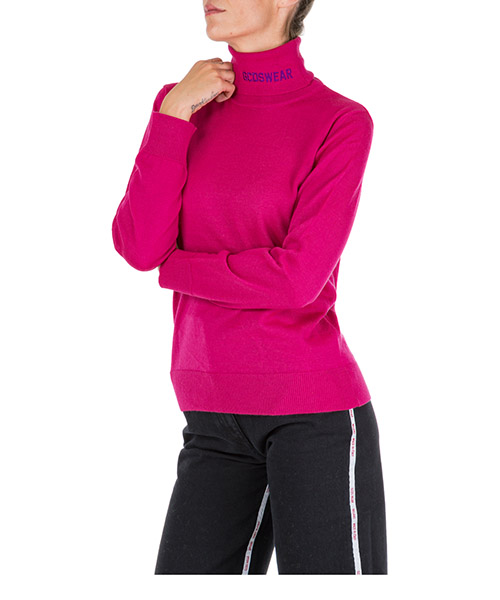 Roll neck jumper GCDS fw20w020063-06 pink