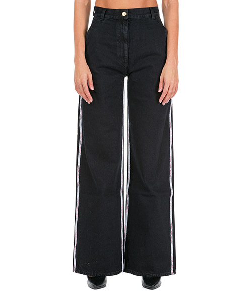 Women's wide leg palazzo jeans secondary image