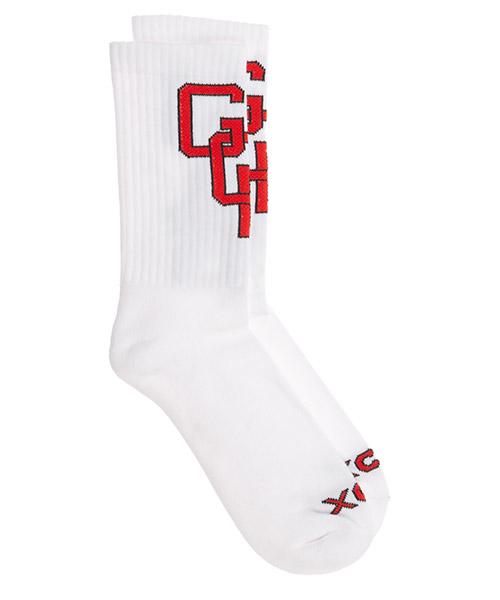 Socken GCDS college fw21m010072-01 bianco