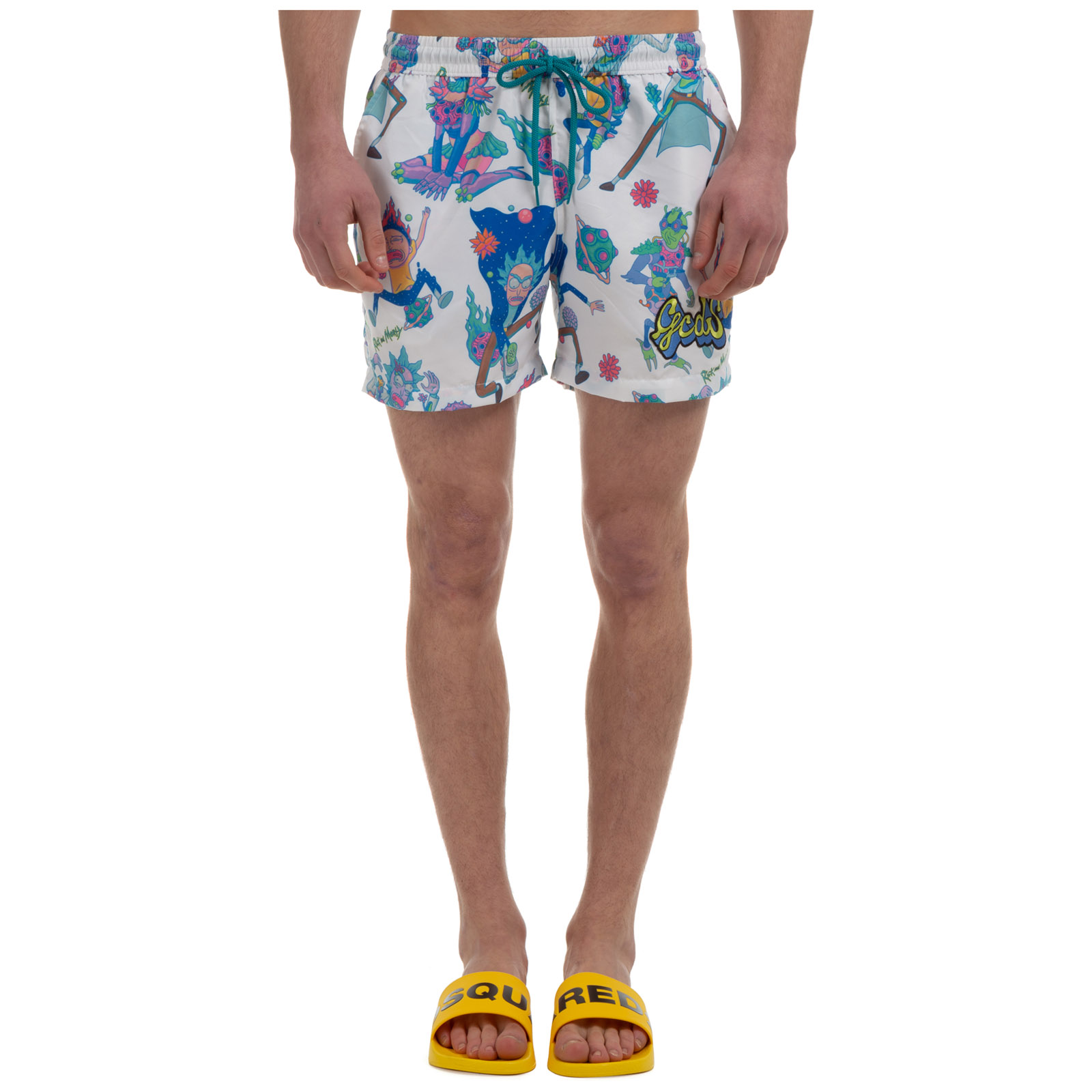 Gcds Swimtrunks MEN'S BOXER SWIMSUIT BATHING TRUNKS SWIMMING SUIT RICK&MORTY