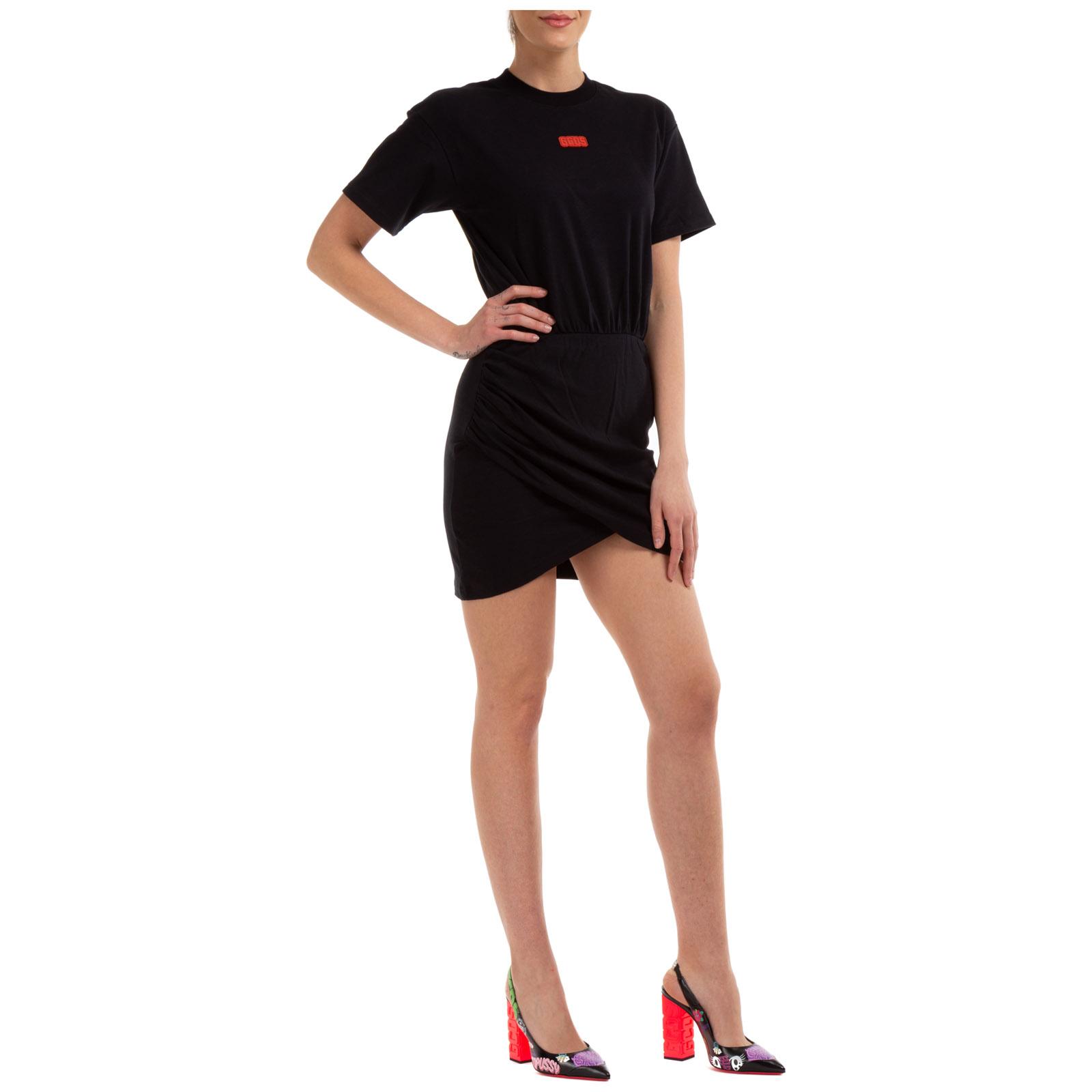 Women's long dress short sleeve